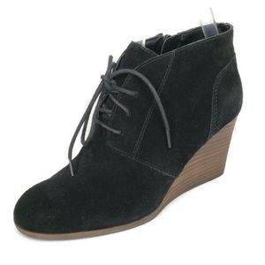 Lucky Brand  Shylow Suede Lace Wedge Ankle Booties